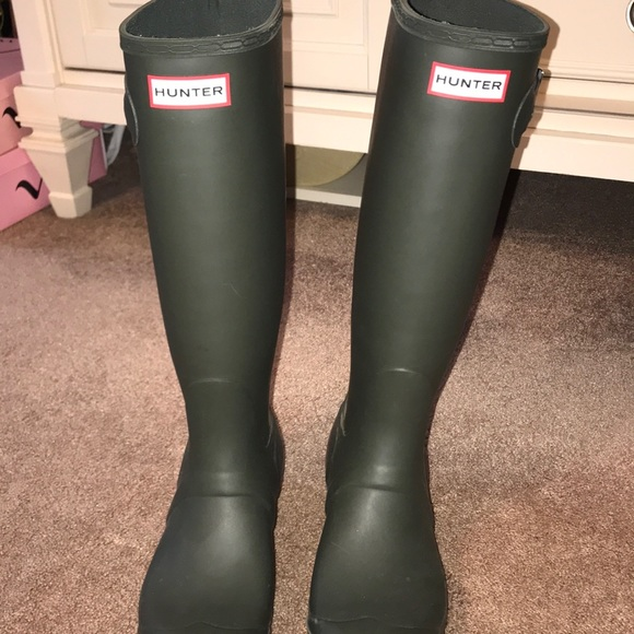 Hunter Shoes | Olive Green Hunter Rain